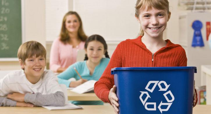 Recycling in classroom