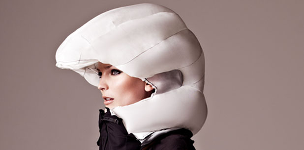 Wearable airbag safety helmet