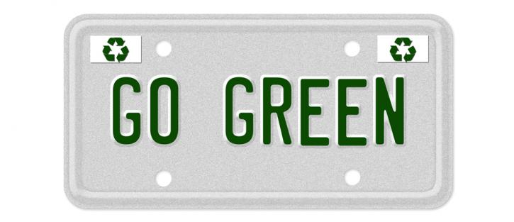 Go Green license plate