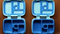 Portable lunch tray container