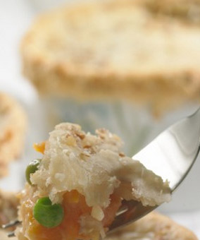Ham and Sweet Potato Pot Pie with Pecan Crust Recipe