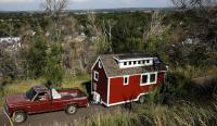 American Chemistry Council Tiny House Build attached to pickup truck