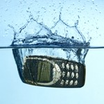 Cell phone repels water
