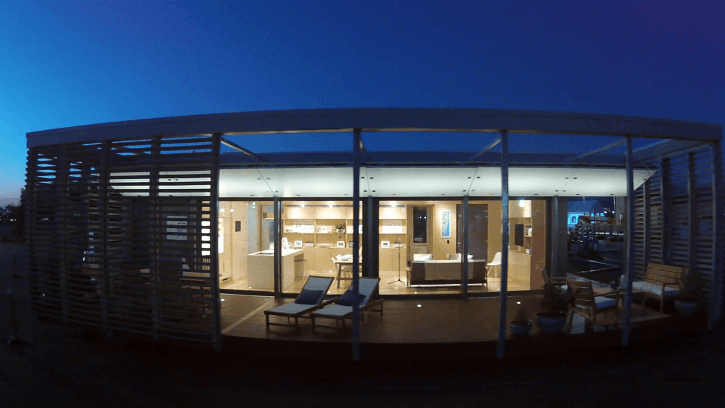 Solar Decathlon VI Sure House at night