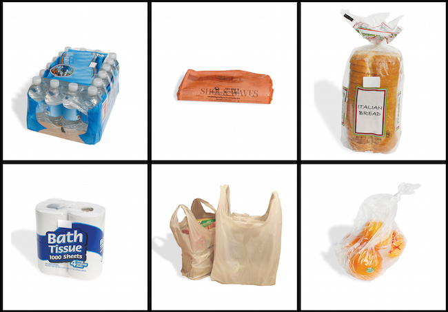 Grocery items that contain plastic bags