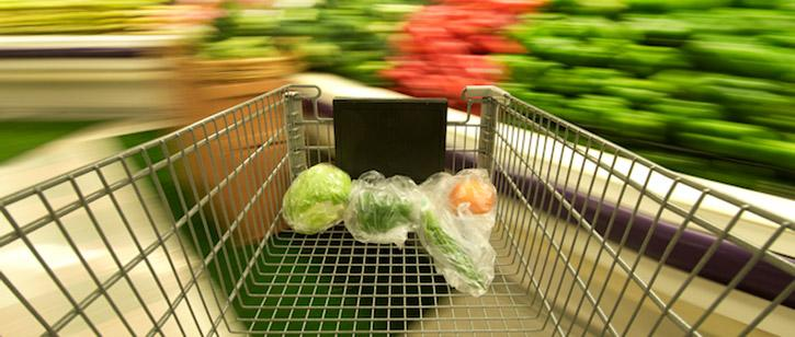 Grocery cart at high speed