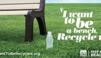 I want to be a bench recycle me poster