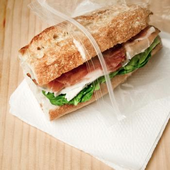 Sandwich in plastic bag