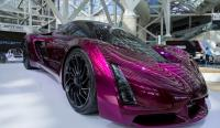 LA Auto show purple sports car