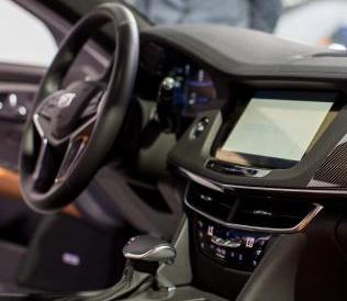LA Auto show car dashboard