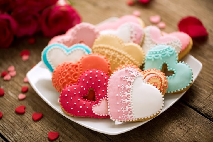 valentines day, cookies