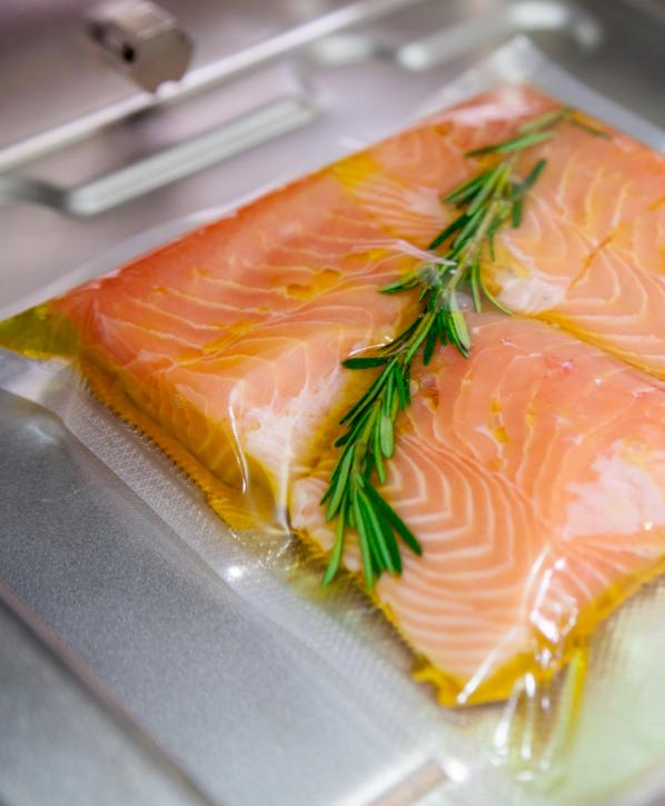 Salmon in olive oil