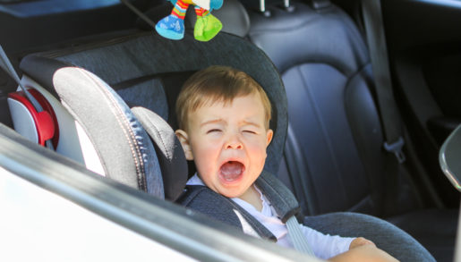 crying baby in car