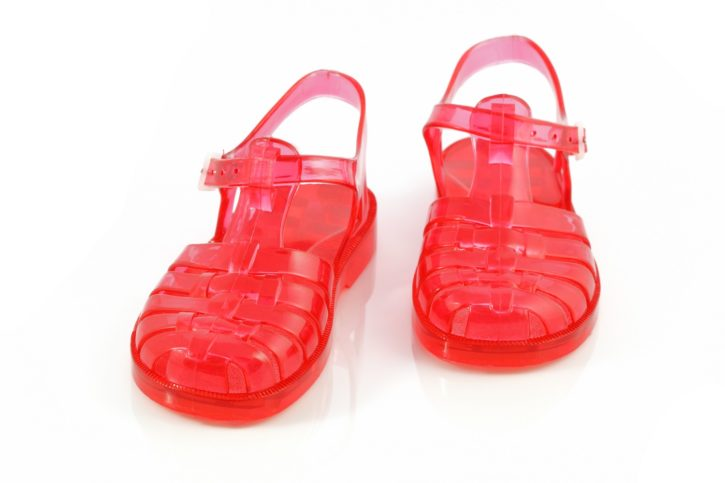 plastic footwear, jelly sandals